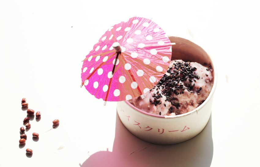 Rote Bohnen-Eis