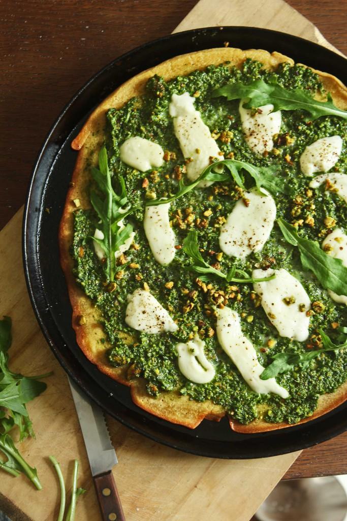 Kichererbsen-Pizza