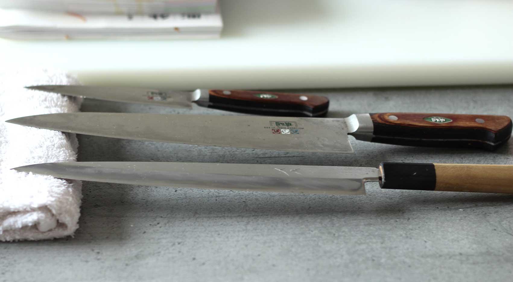 Messer mit Kopfkissen