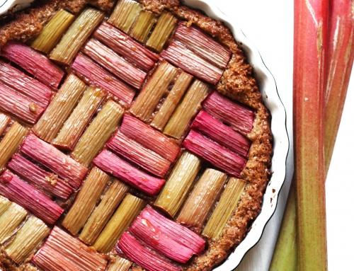 Rhabarberkuchen – mit Sojamehl als Ei-Ersatz