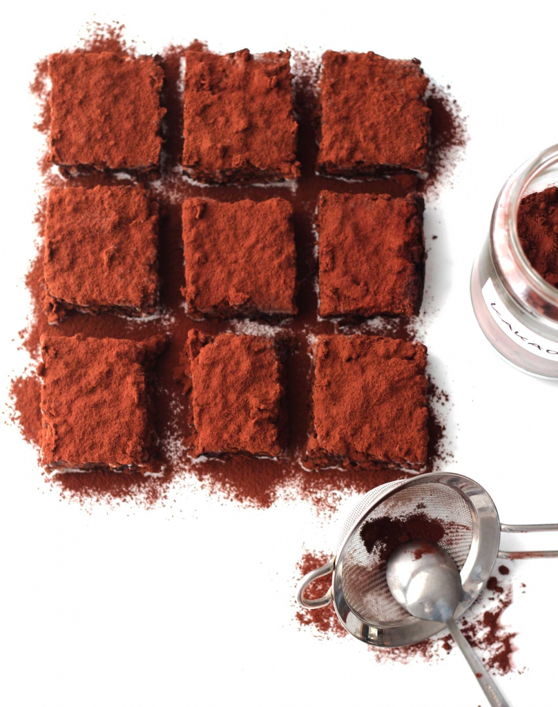 Ackerbohnen-Brownies