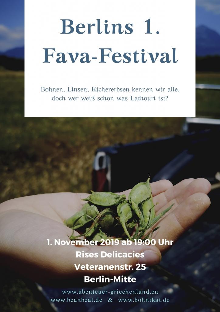 Berlins 1. Fava-Festival